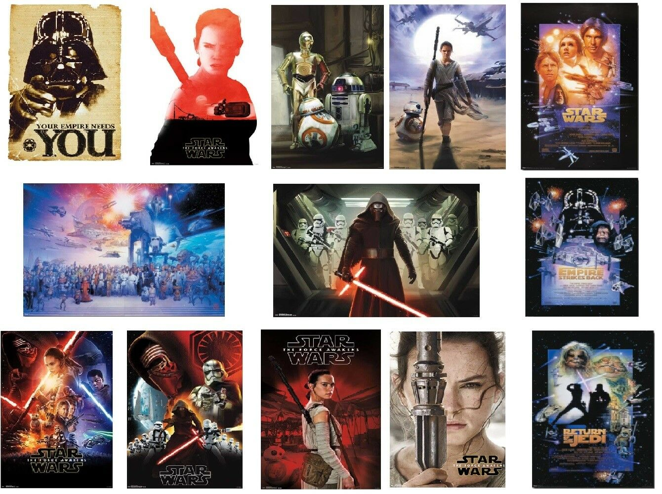"""Wall Poster Star Wars The Force Awakens 22/"""" X 36/"""" Trends International RP14353"""