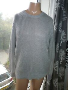 Mohair Blend Saints Montall taglia Large Adatto Grey Crew L Mens All 44 Maglione YH0qwUU