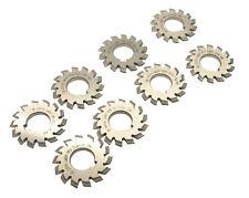 8pcslet Dp16 Modulus Pa145 Degrees 1 8 Hss Gear Cutter Gear Milling Cutter