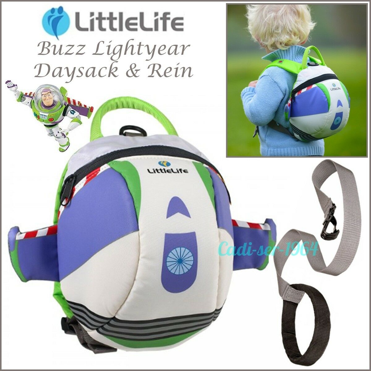 LittleLife Disney Buzz Lightyear Toddler Backpack with Rein