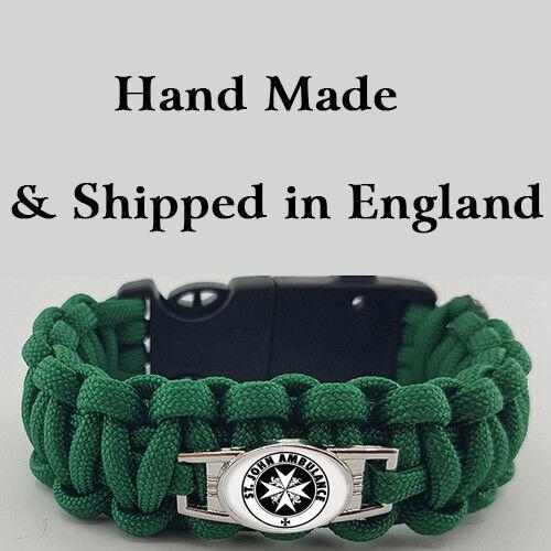 Badged Survival Bracelet Tactical Edge. St John Ambulance STJA