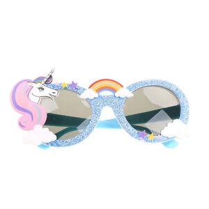 Bleu-unicorne-Party-faveur-lunettes-de-soleil-decoration-fete-anniversaire-decor