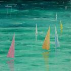 Original Art Yachts Acrylic Painting On Canvas Seascape Artwork By Warren Green