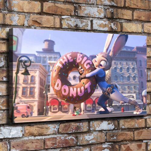 """Zootopia Donut Picture 24/""""x44/"""" Home Decor HD Canvas prints Wall art Painting"""