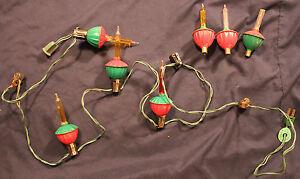 Original Vintage 7 Bubble Light String w/Tulip Lights and Clips #2 eBay