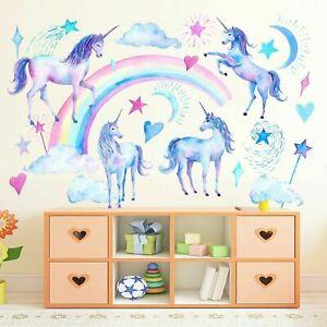 Wandtattoo Kinderzimmer Einhorn Wolke Pferd Sterne Deko Madchen Baby Wandsticker Ebay