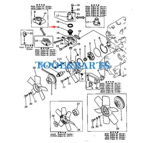 THERMOSTAT 600-421-6110 FITS FOR KOMATSU 2D94 4D94 3D94 3D95S