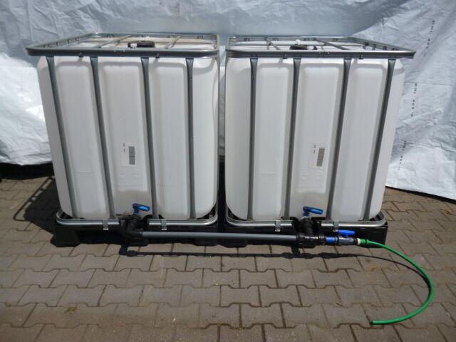 Tankverbindung mit Kugelhahn für 2 nebeneinander stehende IBC Tanks NEU