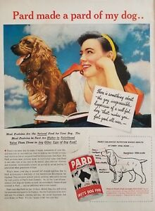 1945-Long-Haired-Dachshund-Photo-Swifts-Dog-Food-Vintage-Print-Ad