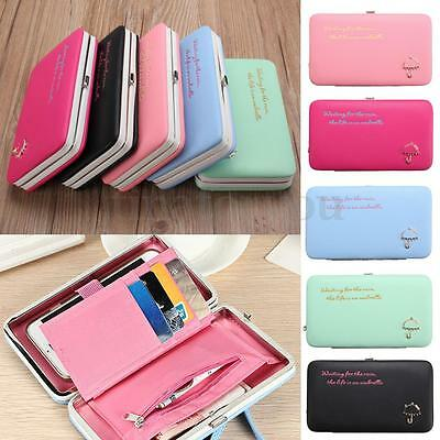 New Fashion Long Women Purse Box Wallet Card Holder Phone Handbag Case Clutch