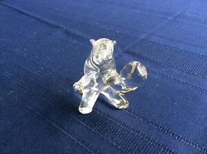 Glass Circus Bear made in Italy of Murano Glass