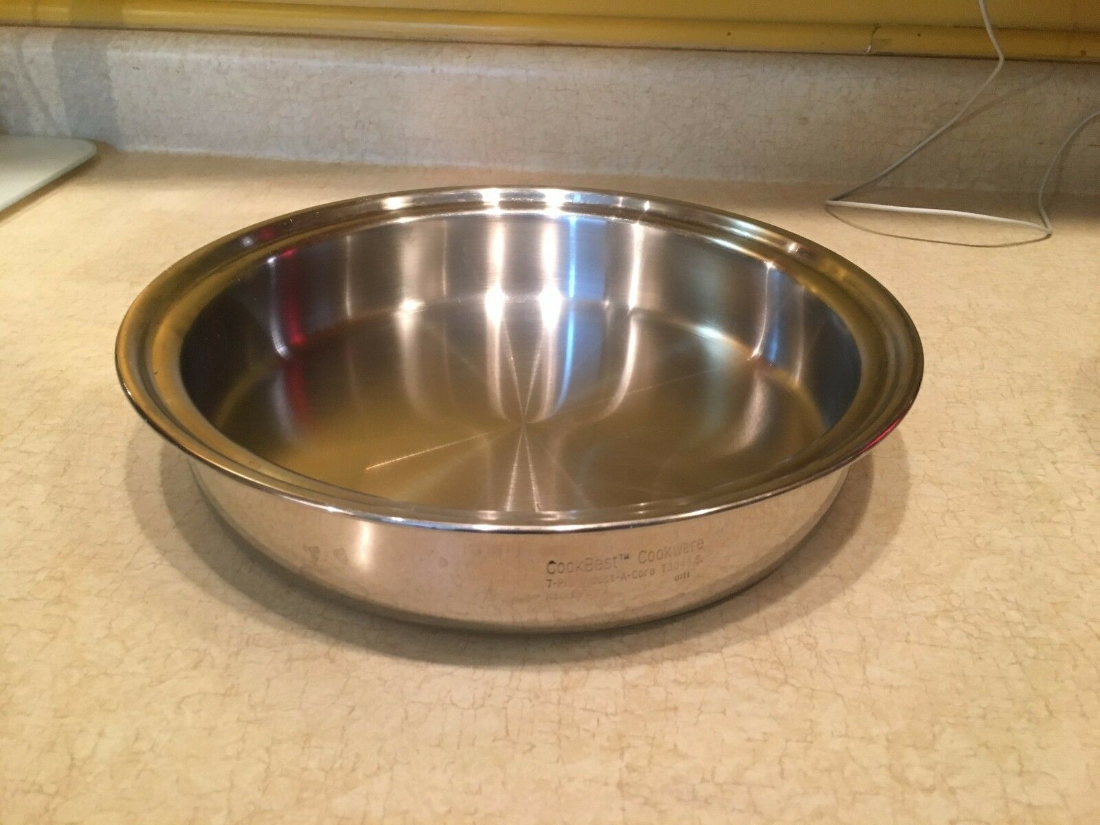 COOKBEST BRAND 7 Ply 10    INDUCT-A-CORE Pan 304 Stainless Steel. MADE IN USA 4a5705