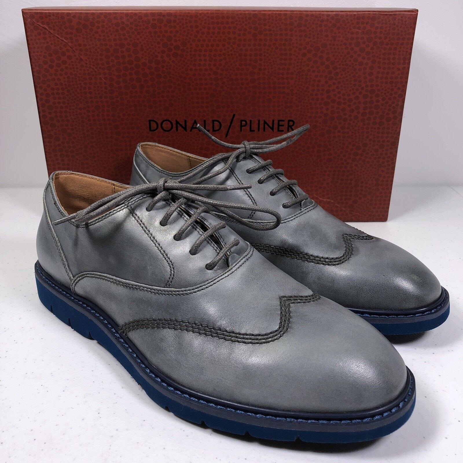Donald Pliner Men's Sennet Oxford Wingtip shoes bluee Grey