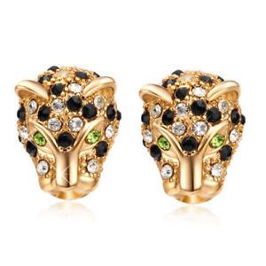 Image Is Loading Fashion Womens Unique Gold Filled Black Crystal Cool