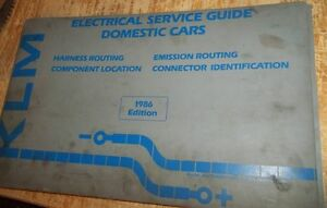 KLM-Electrical-Service-Guide-Domestic-Cars-1986