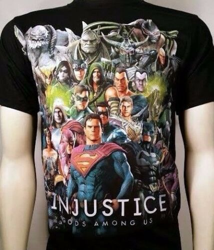 INJUSTICE ALL OVER GROUP BATMAN JOKER DC COMICS SUPER HERO T TEE SHIRT S-3XL