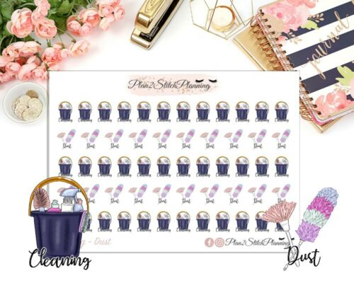Erin Condren Stickers Cleaning /& Dusting Planner Stickers Happy Planner,Icons