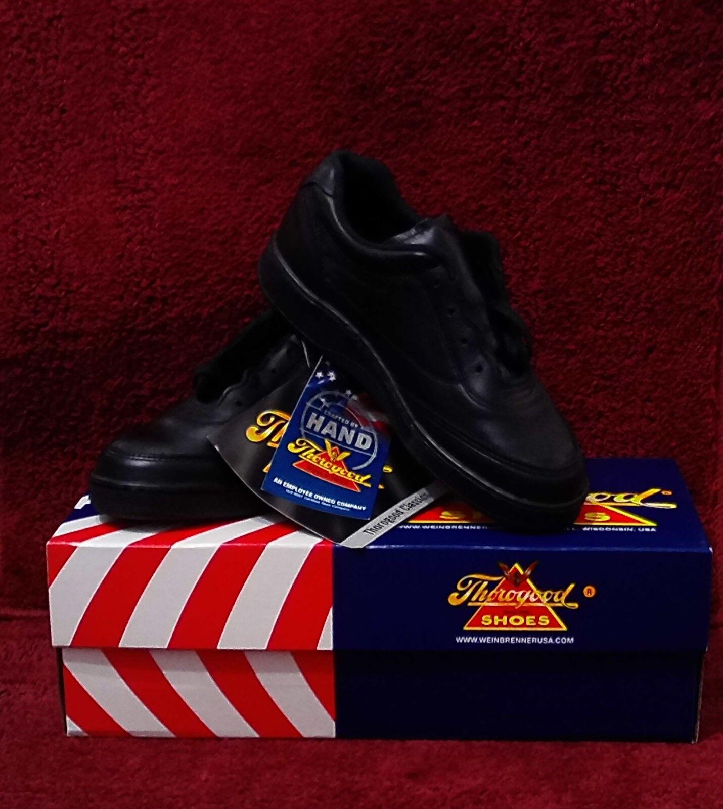 NIB Thorogood Womens Code 3 Oxford Shoes Black Leather Size 7 M