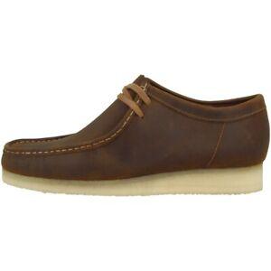Details zu Clarks Wallabee Schuhe Herren Halbschuhe Leder Schnürschuhe Mokassins 26134200