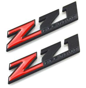 2x Genuine Small Black Z71 OFF ROAD Emblems GM Silverado Sierra Suburban Tahoe L