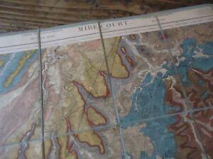 Carte Geologique Lorraine.Details Sur Lorraine Carte Geologique 120x63 Mirecourt Neufchateau Vittel Vosges 1913
