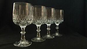 VTG-SCHOTT-ZWIESEL-FLAMENCO-Crystal-Cut-Knob-Wine-Glasses-4-8-5oz-6-3-4