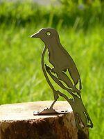 Metal Rusty Baltimore Oriole Bird Garden Home Yard Outdoor Lawn Fence Art Decor