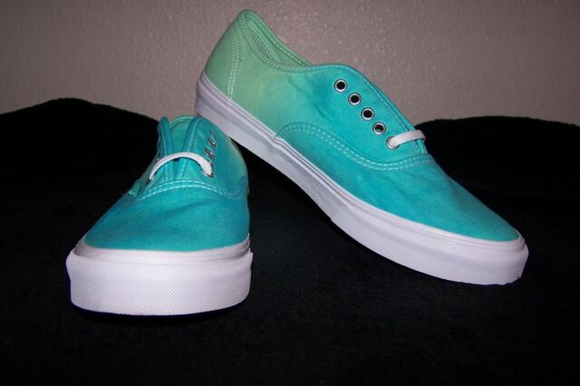f202ff8e9b6c1f VANS Authentic Slim Men s Skaters (Ombre) Cloisonne Icy Green Size 9.5 NWOB  NICE