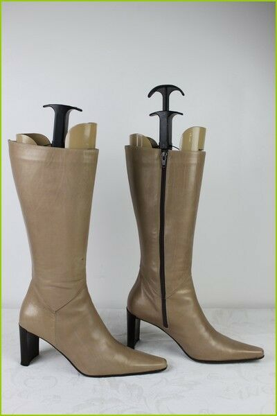 Boots Xenos all Leather Beige Iridescent golden T 37 Be