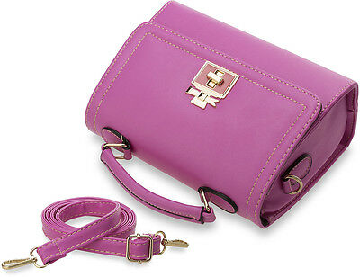 kleine klassische Handtasche Damentasche Bowlingbag Schultertasche Aktentasche