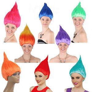 Image Is Loading Adult Trolls Wig Fancy Dress Blaze Flame Gradient