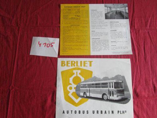 P.1617.2-57 BERLIET N°4105 prospectus  autobus urbain PLH 8