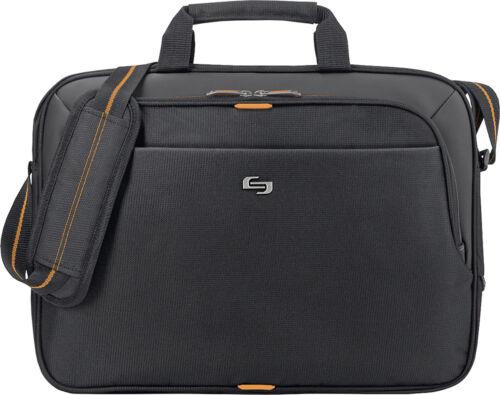 Urban Laptop Briefcase Solo Black//Orange