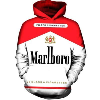 3 Color Men/'s Women/'s Novelty Marlboro Hoodie Jumper Sweater Jacket Coat