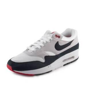 a512ea9d0c4f Nike Mens Nike Air Max 1 Anniversary White Dark Obsidian 908375-104 ...