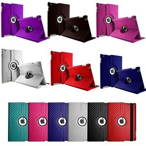 3D-Fashion-Diamond-Leather-360-Rotating-Stand-Case-Cover-For-iPad-2-3-4-UK-sell