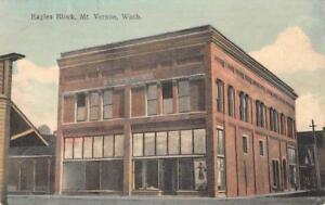 EAGLES-BLOCK-Mount-Vernon-Washington-1913-Hand-Colored-Vintage-Postcard