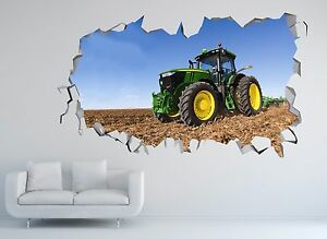 John Deere Wall Decal Tractor Sticker Vinyl Art Construction
