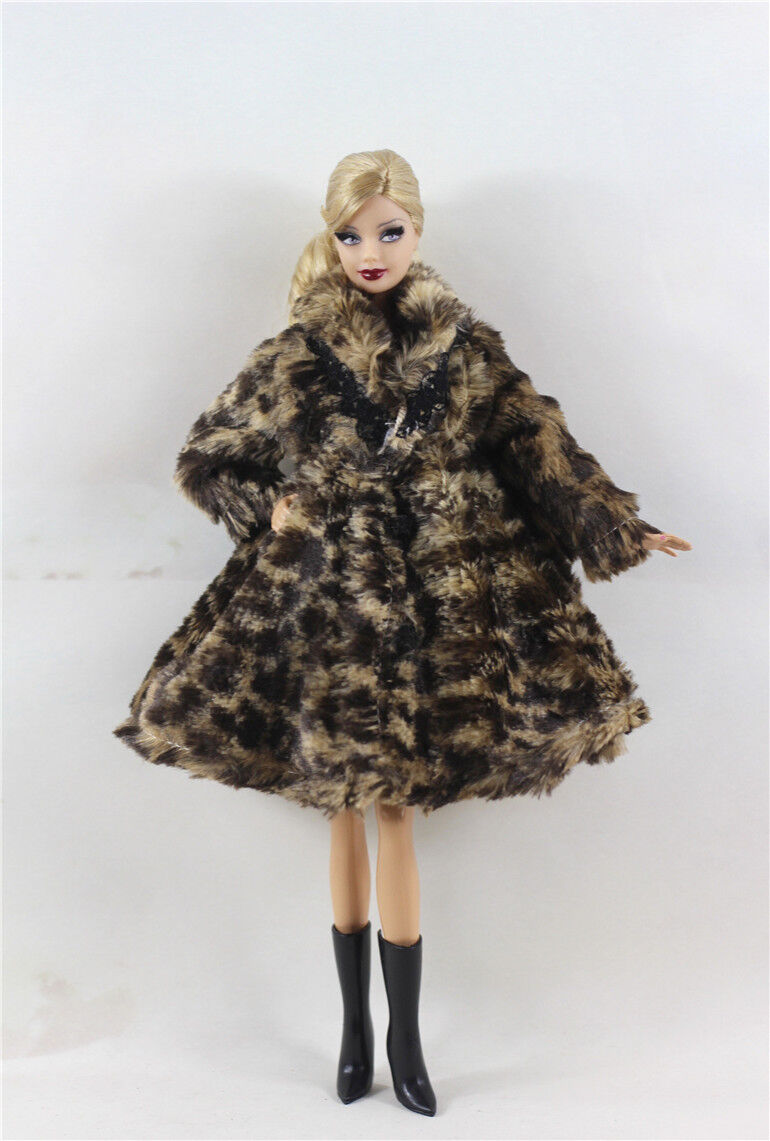 Lovely Fashion Winter fur Coats Clothes//Outfit For 11.5in.Doll C018