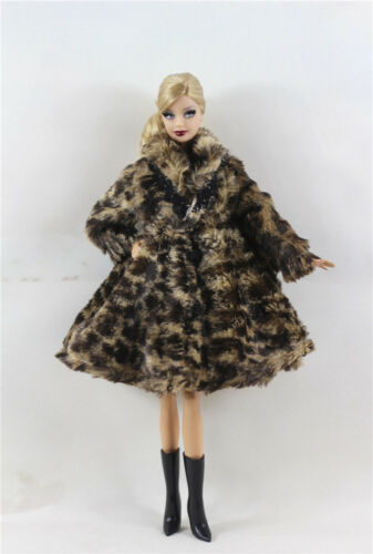New 5 PCS Lovely Fashion Winter fur Coats Clothes//Outfit For 11.5in.Doll C035