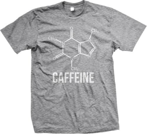 Caffeine Molecule Nerd Geek Coffee Addict Funny Humor Chemistry Mens T-shirt