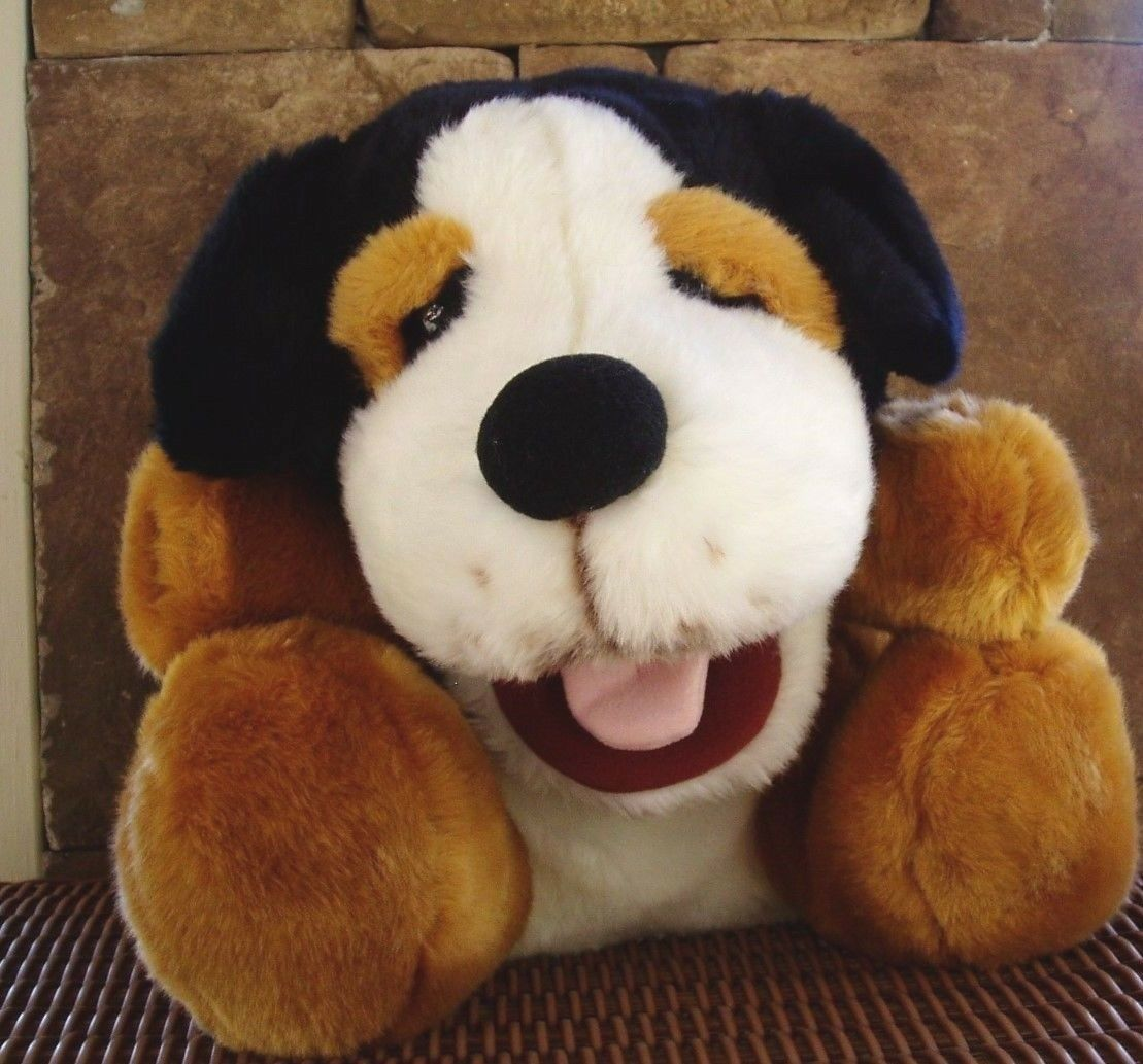 Bernese Mountain Dog Open Mouth Whimsy Barking Plush Puppet Costco Approx 12