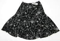 Chico's Travelers 'daisy Days' Matty Skirt Black White Size 0/4 $88.00