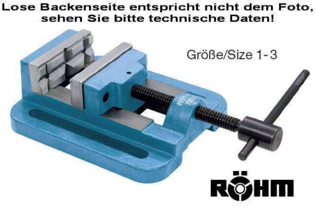Größe 1 Backenbreite 63 Röhm 7193 Bohrmaschinen-Schraubstock BSH