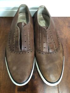 09f04bbf984b Rare converse john varvatos Slip On Shoes Brown Leather Size 9 Man ...