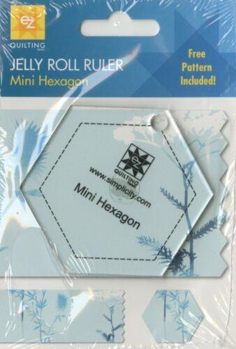 EZ Quilting 882236 Mini Hexagon Jelly Roll Ruler