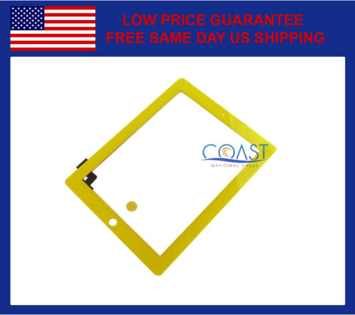 IPAD 2 COMPLETE FRONT PANEL TOUCHSCREEN DIGITIZER WITH HOME BUTTON YELLOW