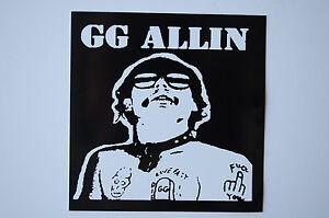 Gg allin sticker decal 317 punk rock mentors adolescents subhumans car