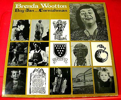 Brenda Wootton Boy Jan Cornishman LP UK ORIG 1980 Burlington Cornish Folk VINYL