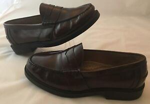 b0ad7e8adde NUNN BUSH Mens Size 9.5 W Dress Shoes Burgundy Penny Loafers Leather ...